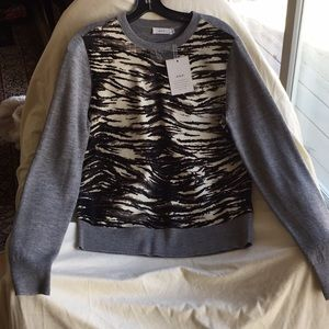 A.L.C. 💯Merino Wool💯Calf Fur Sweater New WithTag